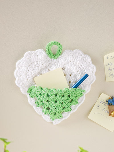 Crochet Heart Holder