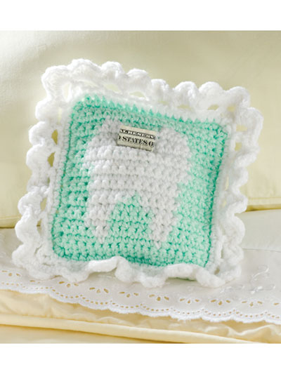 Crochet Tooth Fairy pillow pattern