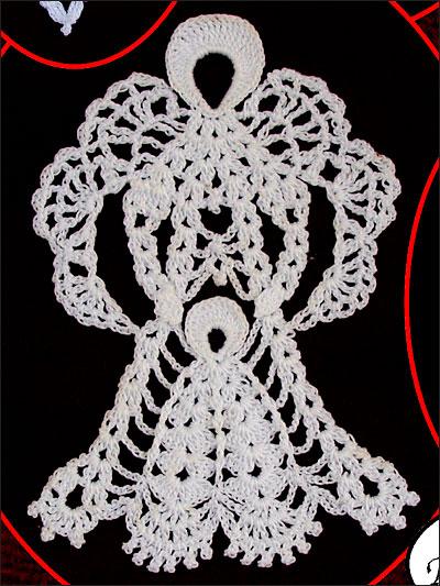 "Crochet Angel pattern /""Angel Bookmark Ornaments/"""