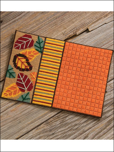 Seasonal Place Mats for fall in plastic canvas