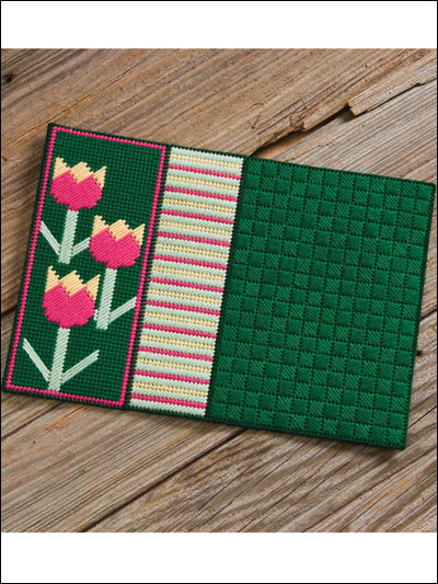 Seasonal Place Mats for spring and summer in plastic canvas