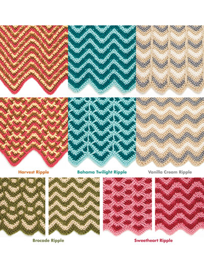 Crochet reversible ripple afghan patterns