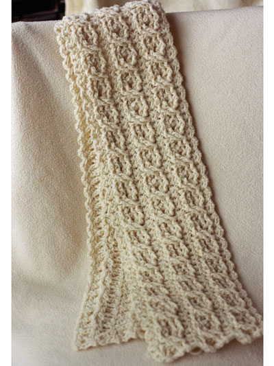Crochet Scarf Patterns Canyon River Cable Scarves