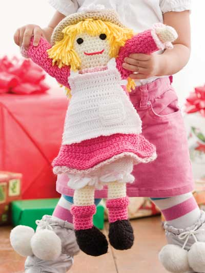Crochet a girl rag doll crochet pattern