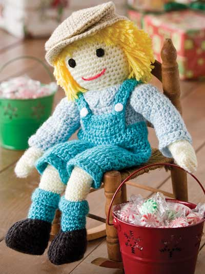 Crochet a boy rag doll crochet pattern