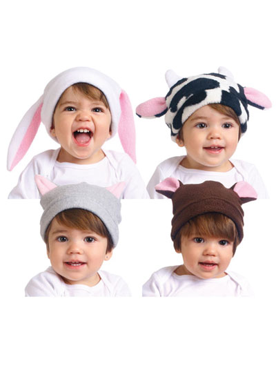 78dd234932f Easy to Sew Free fleece animal hat patterns for baby and children