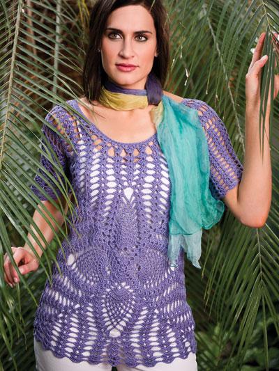 Crochet Patterns Kimberlys Pineapple Lace Tunic