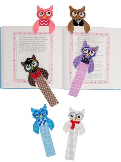 Plastic Canvas Gift Downloads Owl Buddy Bookmarks