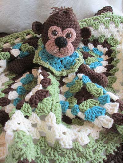 Monkey Huggie Blanket Crochet Pattern