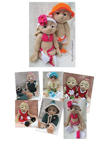 Crochet a Doll and doll clothes pattern