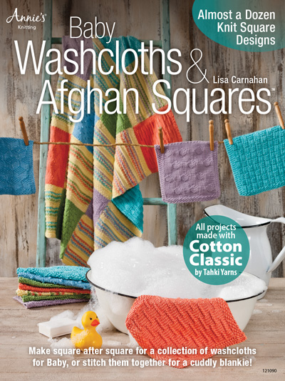 Knitting Books Baby Washcloths Afghan Squares Knit Pattern Book