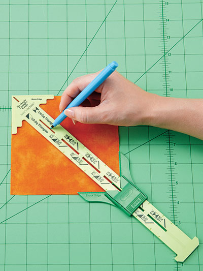 sewing gauge drawing. no-hassle triangles gauge sewing drawing