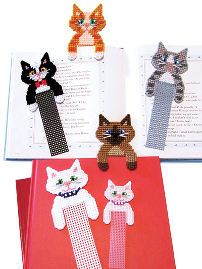 Plastic Canvas Gift Designs Cute Kitty Bookmarks