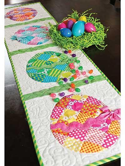 Spring Summer Quilt Patterns Patchwork Easter Egg Table Runner