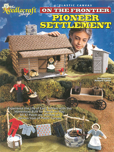 Make a Pioneer Settlement in Plastic Canvas