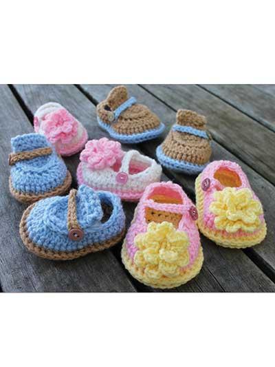 Crochet Baby Booties Socks Boy Girl Baby Shoes Crochet Pattern