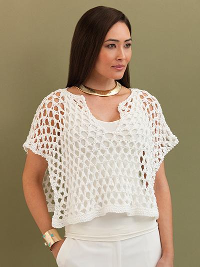 Vera Poncho Top Knit Pattern
