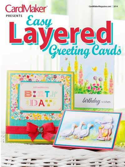 Card Paper Craft Magazines Easy Layered Greeting Cards