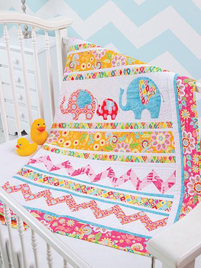 Applique Baby Quilt Patterns & Kids Quilt Designs - Page 1 : elephant quilt panel - Adamdwight.com