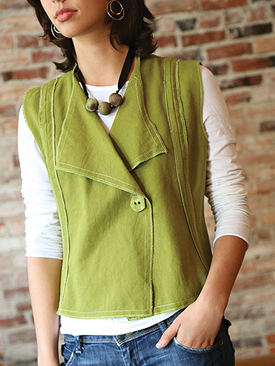 Women\'s Clothing Sewing Patterns - Modern Silhouette Vest Sewing Pattern