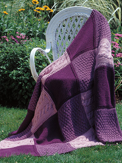 Patchwork Trio Afghan Knit Pattern