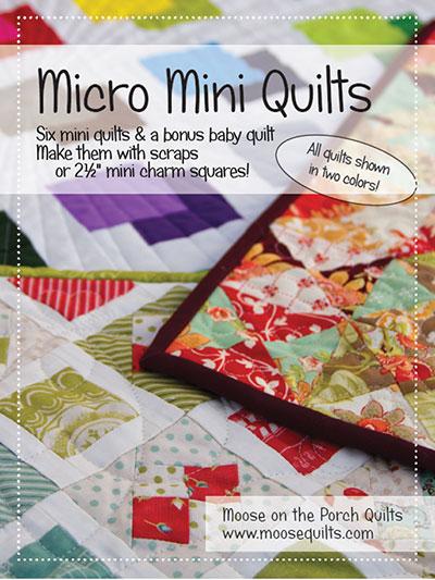 Quilt Pattern Books Micro Mini Quilts Pattern Book Mesmerizing Mini Quilt Patterns