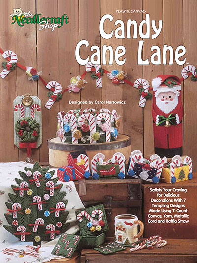 Holiday Plastic Canvas Patterns Candy Cane Lane