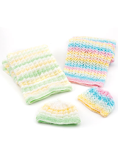 Baby Blankets & Hats Knit Pattern