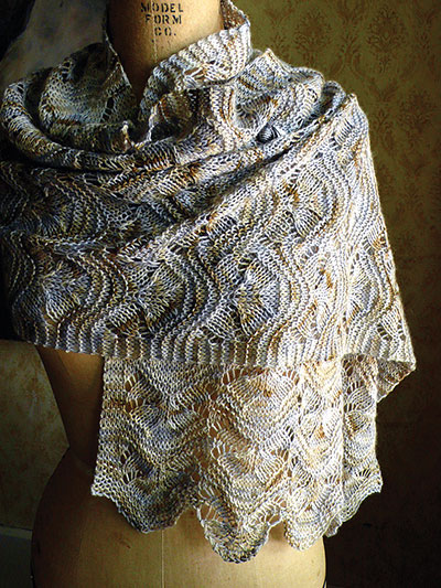 Hillflowers Scarf/Wrap Knit Pattern