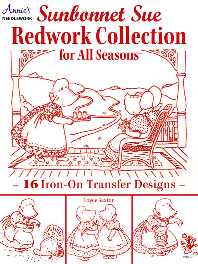 Embroidered Quilt Patterns Sunbonnet Sue Redwork Needlework Gorgeous Sunbonnet Sue Patterns