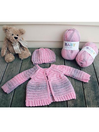 Crochet Raglan Baby Sweater Hat Crochet Pattern Rac1158