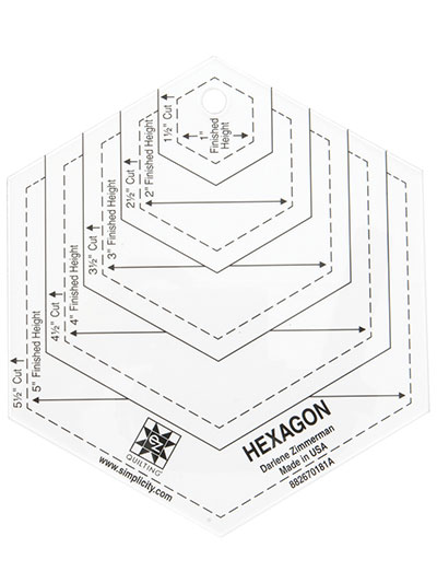 113595 hexagon quilting template 5\