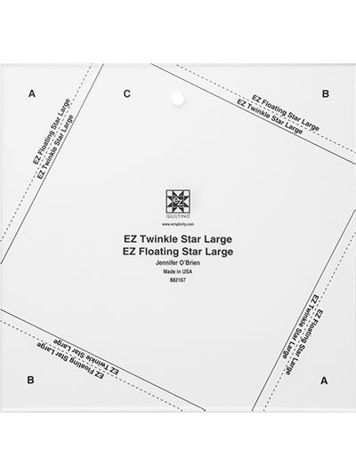 Rulers & Cutting Mats - EZ Twinkle Floating Star Templates