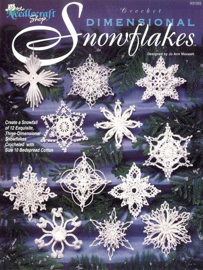 Crochet Dimensional Snowflakes