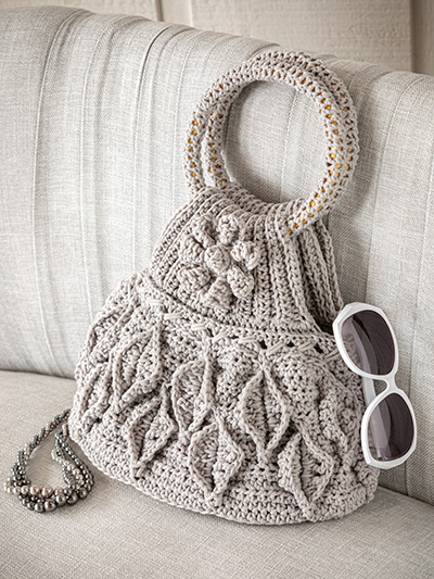 Crochet Handbag Patterns Cascading Leaves Bag Crochet Pattern