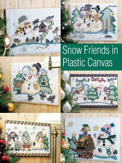 Plastic Canvas Snowman Friends
