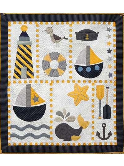 Animal Quilt Patterns - Ahoy Quilt Pattern : nautical quilts patterns - Adamdwight.com