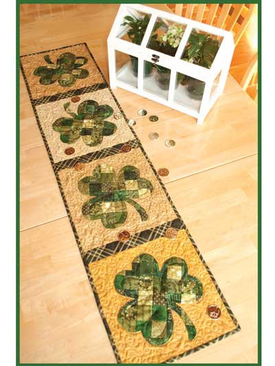 Patchwork Shamrock Table Runner Pattern
