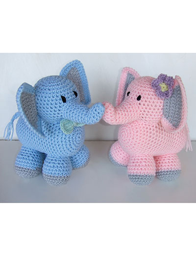 Crochet a boy or girl elephant pattern