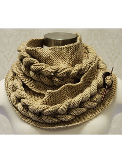 Accessory Knitting Downloads Big Cable Cowl Knit Pattern