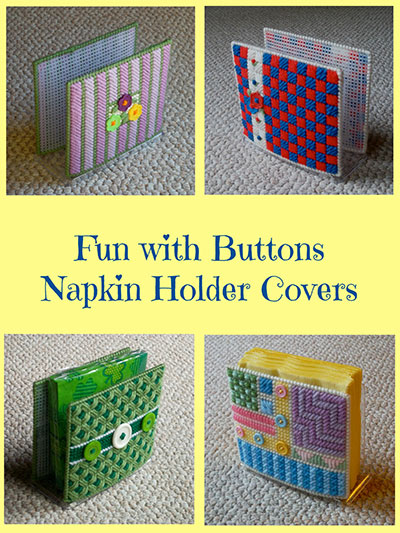 Easy Plastic Canvas Patterns Fun With Buttons Napkin Holder Covers Enchanting Easy Plastic Canvas Patterns