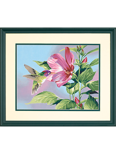 Hibiscus Hummingbird Paint-by-Numbers Kit