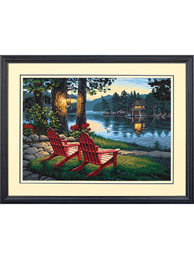 Adirondack Evening Paint-by-Numbers Kit