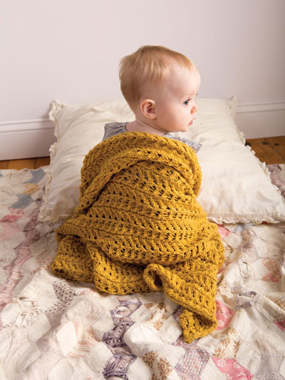 easy baby blanket knit patterns