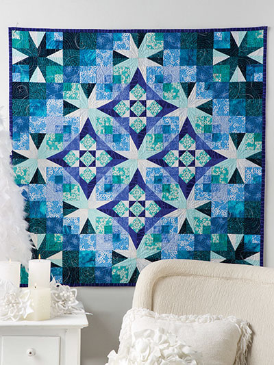 Quilted Wall Hanging Patterns christmas & winter quilt patterns - frost in the air wall hanging