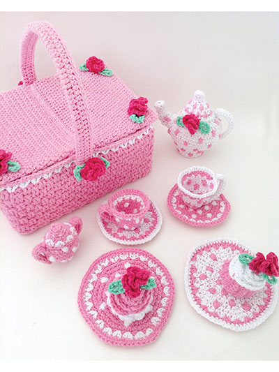 Polka Dot Tea Set Crochet