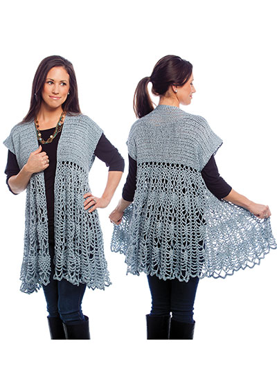 Swing Sweater Knitting Pattern : Pineapple Swing Cardigan Crochet Pattern