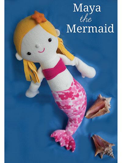Soft Doll Sewing Pattern - Maya the Mermaid Sewing Pattern