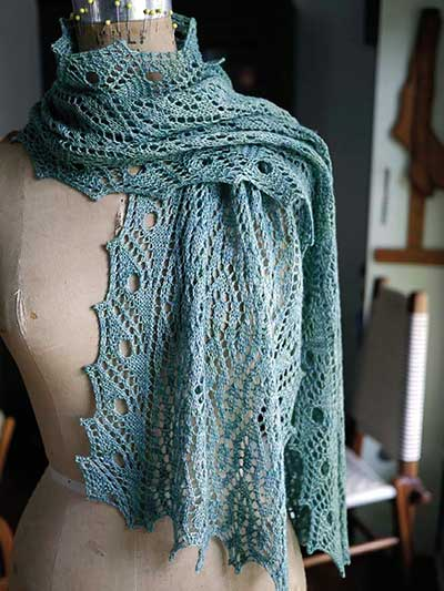 Lace Knitting Patterns Isadora Scarf Knit Pattern