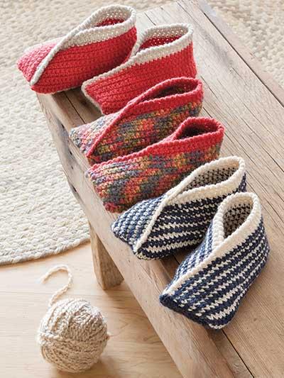 Annies Signature Designs Tiptoe Crochet Slippers Pattern